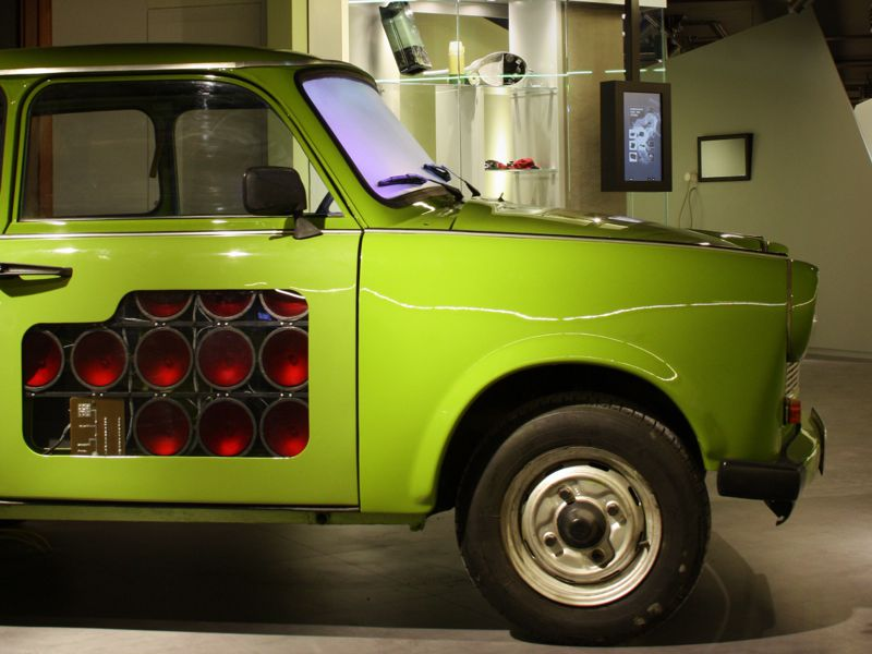 Trabi im Spy Museum in Berlin